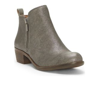 Lucky Brand Basel Bootie Pewter Women's 9.5